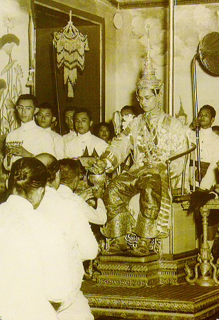 King Bhumibol during his coronation ceremony on May 5 1950