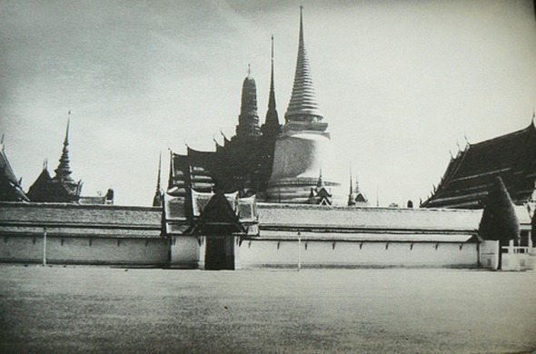 Wat Phra Kaew - View of the shimmering spires from the 1930s
