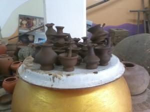 Small pots in Rama V Museum - Koh Kret